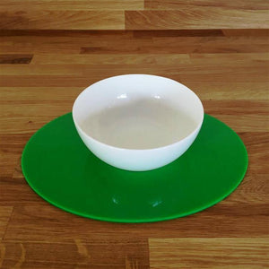 Oval Placemat Set - Bright Green