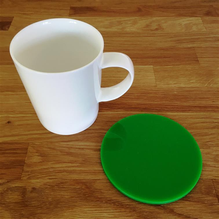Round Coaster Set - Bright Green
