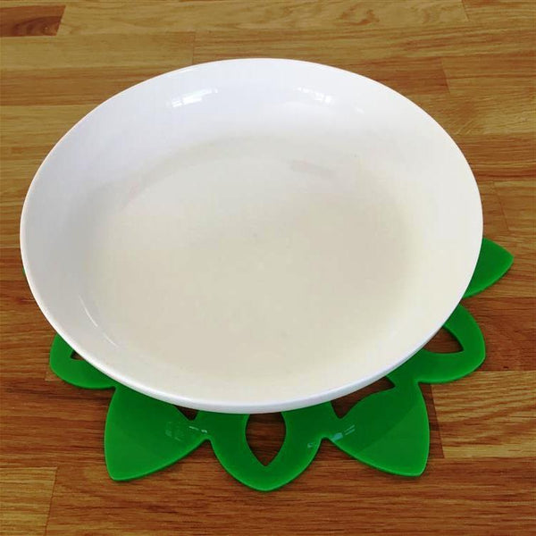 Snowflake Shaped Placemat Set - Bright Green