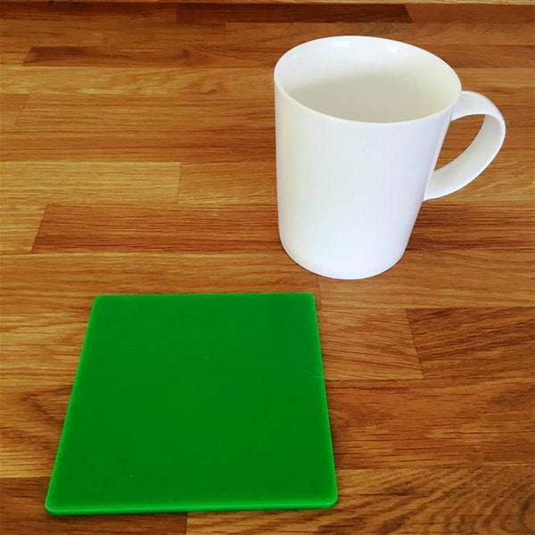 Square Coaster Set - Bright Green