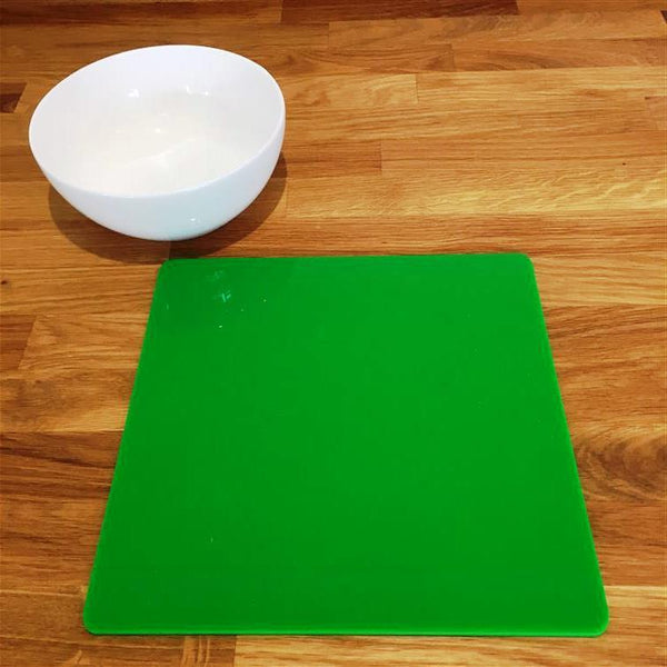 Square Placemat Set - Bright Green
