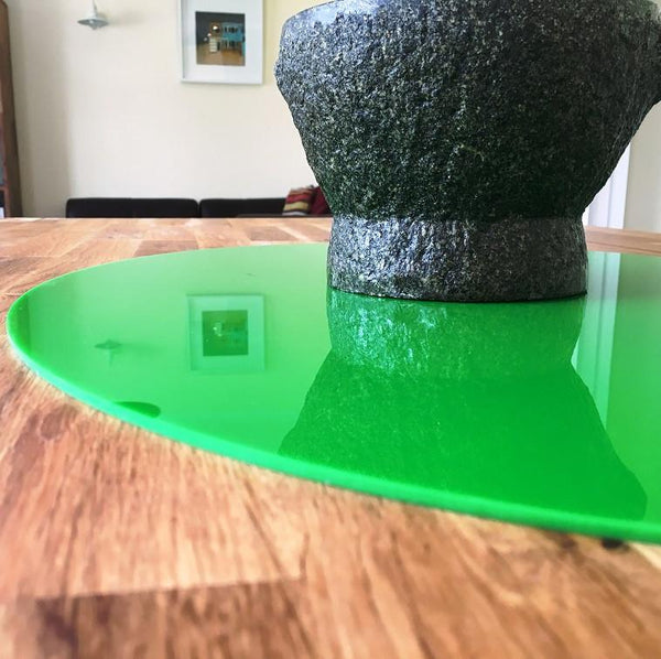 Oval Worktop Saver - Bright Green