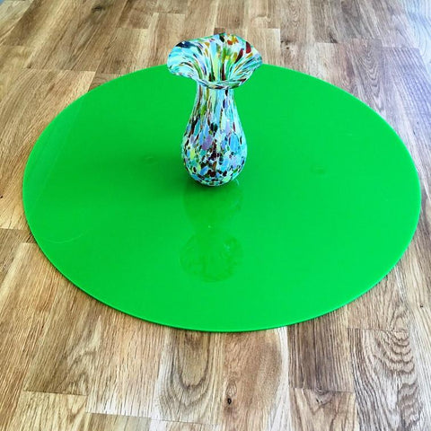 Round Worktop Saver - Bright Green