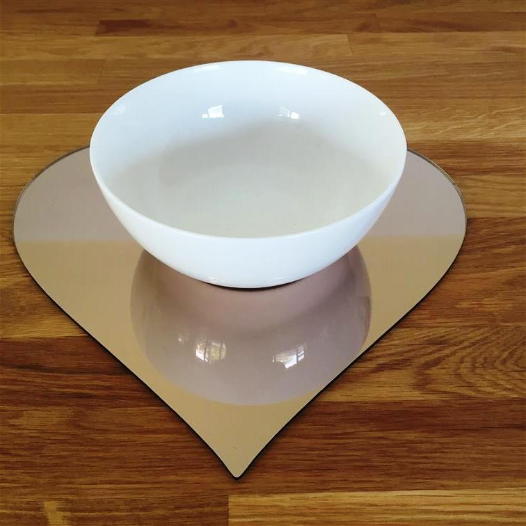 Heart Shaped Placemat Set - Bronze Mirror