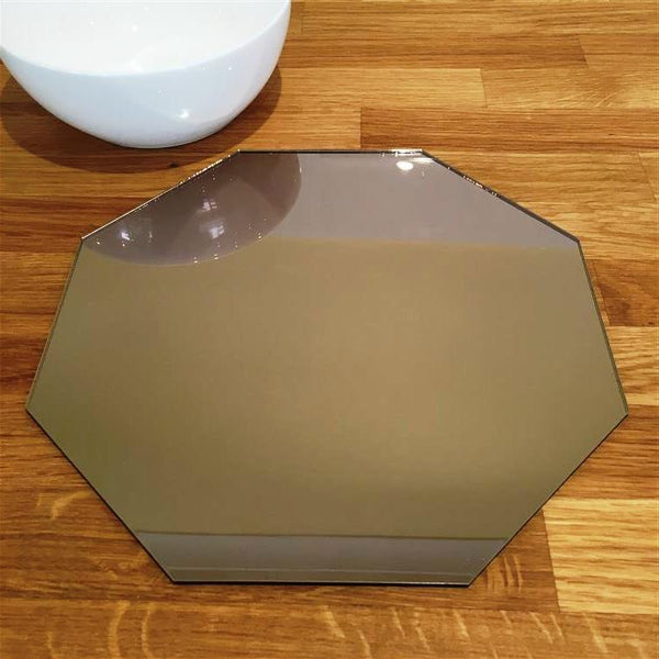 Octagonal Placemat Set - Bronze Mirror