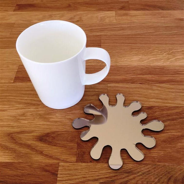 Splash Shaped Coaster Set - Bronze Mirror