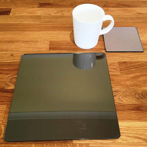 Square Placemat and Coaster Set - Bronze Mirror
