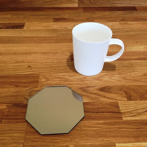Octagonal Coaster Set - Bronze Mirror