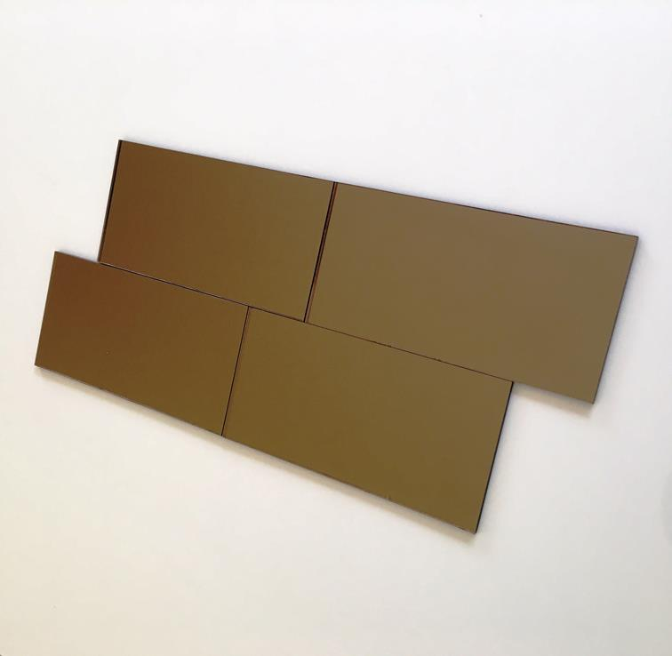 Rectangular Tiles - Bronze Mirror