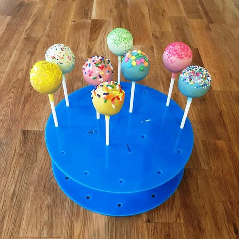 Cake Pop Stand Round - Bright Blue