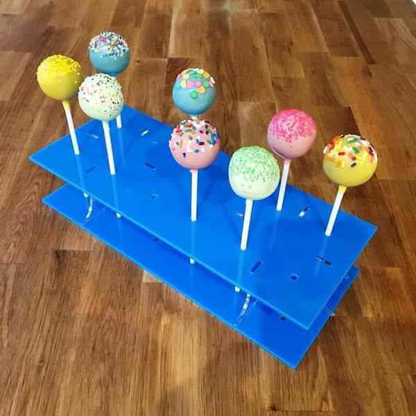 Cake Pop Stand Rectangle - Bright Blue