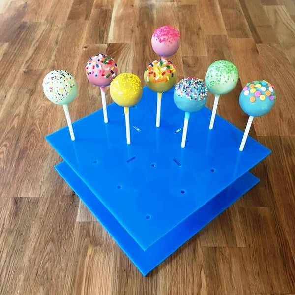 Cake Pop Stand Square - Bright Blue