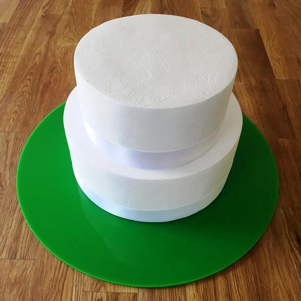 Round Cake Board - Bright Green