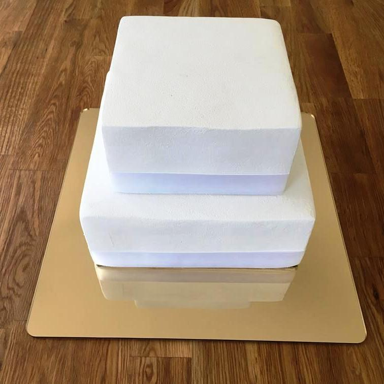 Square Cake Board - Gold Mirror