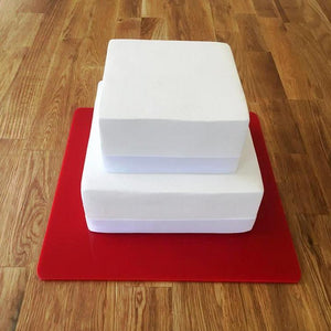 Square Cake Board - Red