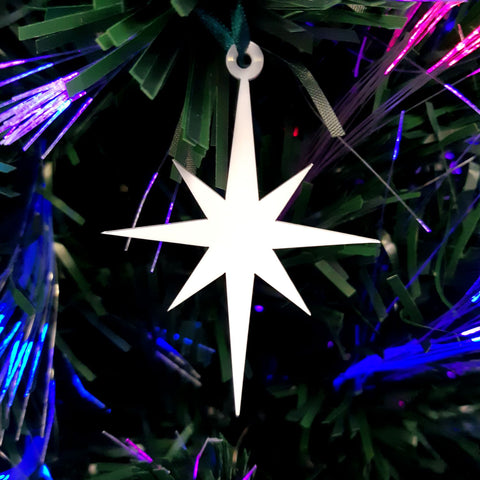 Christmas Star Christmas Tree Decorations Matt Pastel Colours