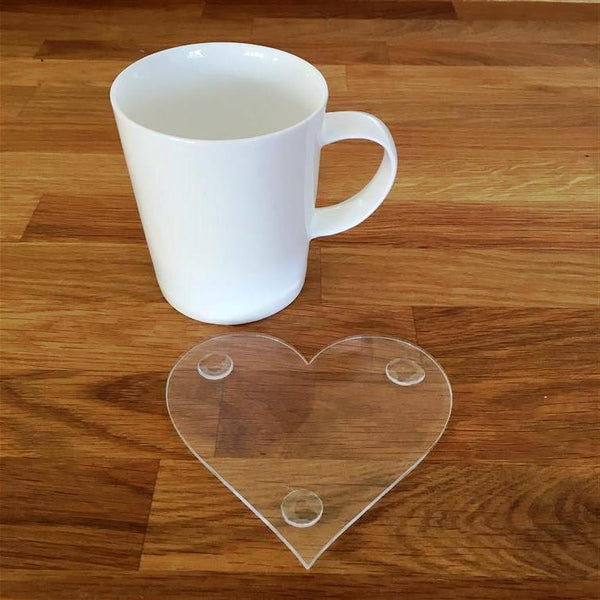 Heart Shaped Coaster Set - Clear