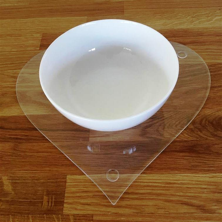 Heart Shaped Placemat Set - Clear