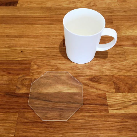 Octagonal Coaster Set - Clear