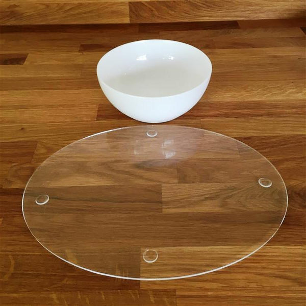 Oval Placemat Set - Clear