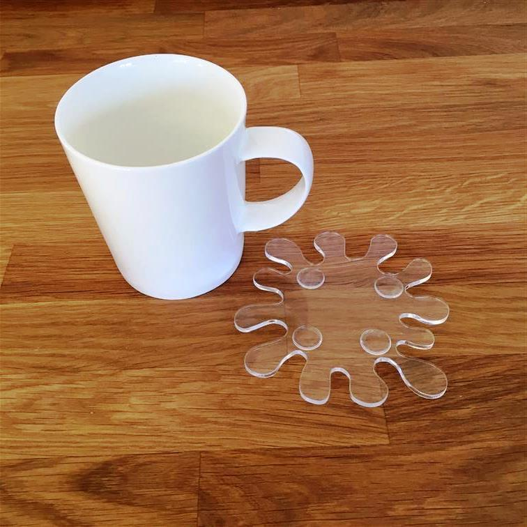 Splash Shaped Coaster Set - Clear