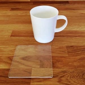 Square Coaster Set - Clear