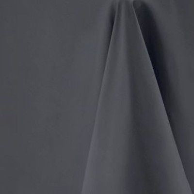 Dark Grey Round Tablecloth