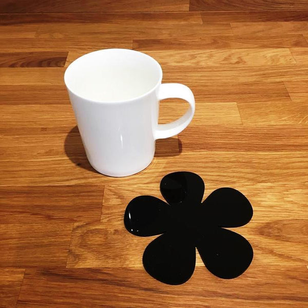 Daisy Shaped Coaster Set - Black