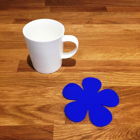 Daisy Shaped Coaster Set - Blue