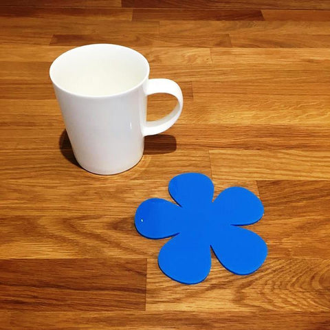 Daisy Shaped Coaster Set - Bright Blue
