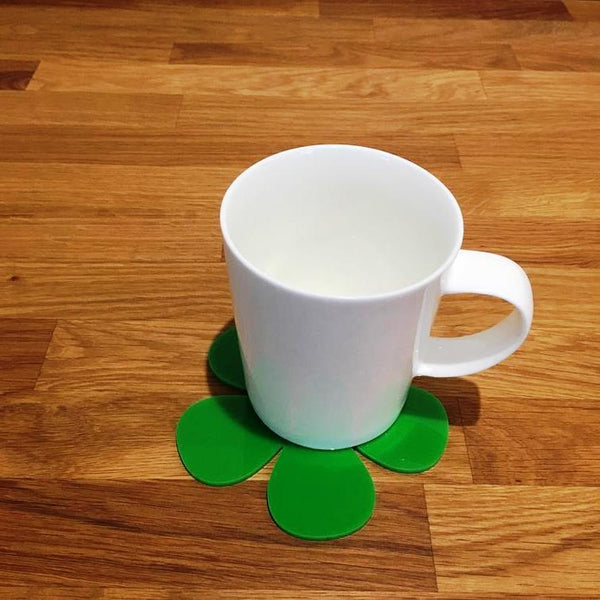 Daisy Shaped Coaster Set - Bright Green
