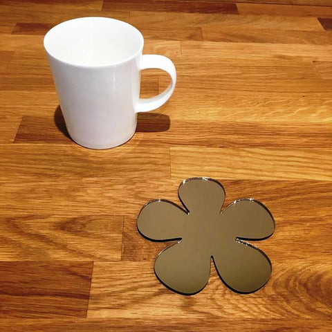 Daisy Shaped Coaster Set - Bronze Mirror