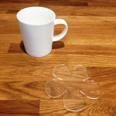 Daisy Shaped Coaster Set - Clear