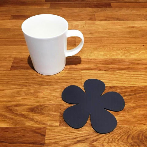 Daisy Shaped Coaster Set - Graphite Grey