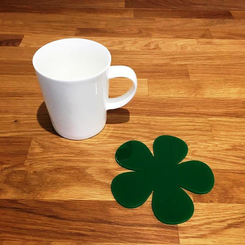 Daisy Shaped Coaster Set - Green