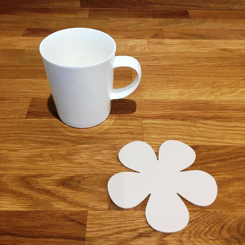 Daisy Shaped Coaster Set - Latte