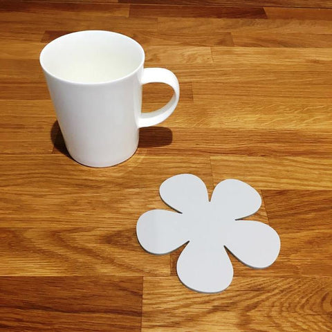 Daisy Shaped Coaster Set - Light Grey