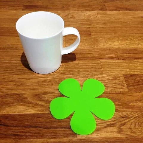 Daisy Shaped Coaster Set - Lime Green