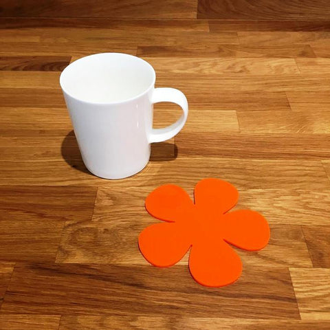 Daisy Shaped Coaster Set - Orange