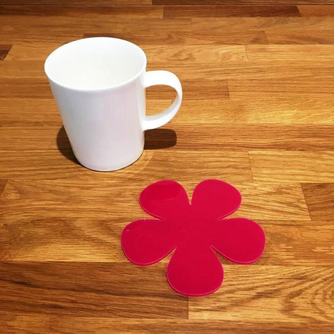Daisy Shaped Coaster Set - Pink