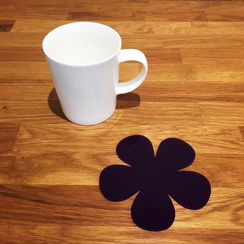Daisy Shaped Coaster Set - Purple