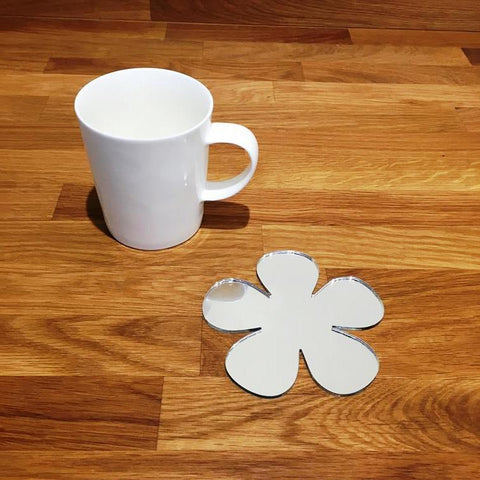 Daisy Shaped Coaster Set - Mirrored