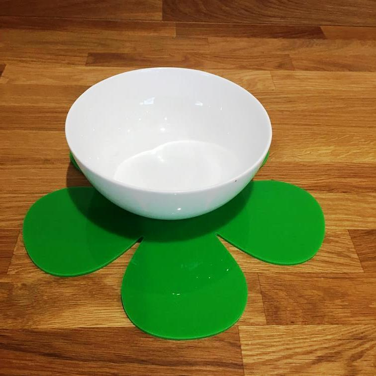 Daisy Shaped Placemat Set - Bright Green