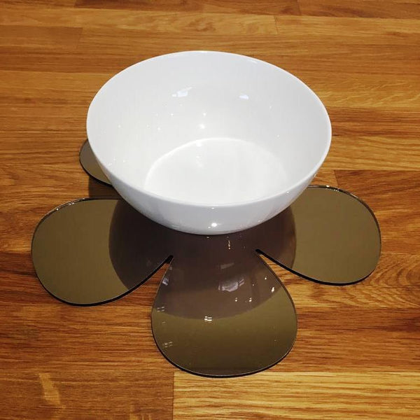 Daisy Shaped Placemat Set - Bronze Mirror