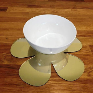 Daisy Shaped Placemat Set - Gold Mirror