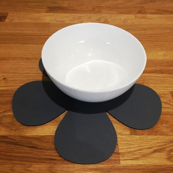 Daisy Shaped Placemat Set - Graphite Grey