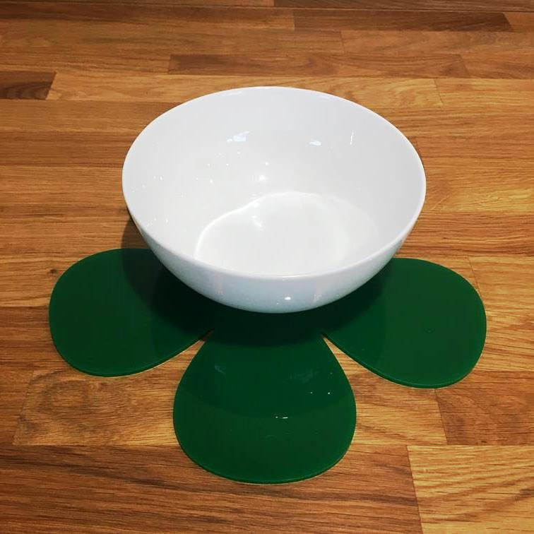 Daisy Shaped Placemat Set - Green