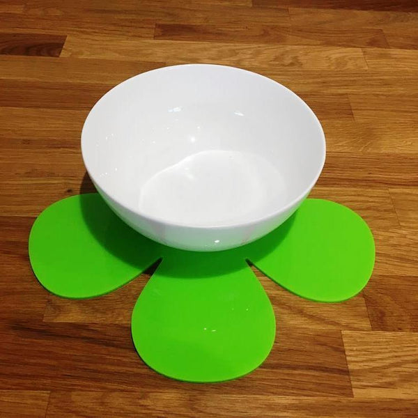 Daisy Shaped Placemat Set - Lime Green