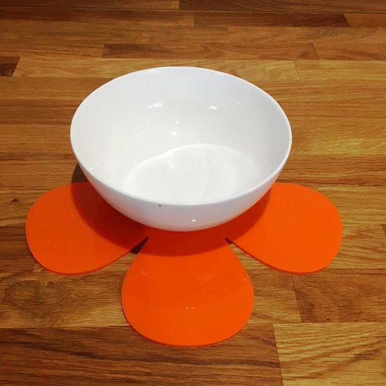 Daisy Shaped Placemat Set - Orange