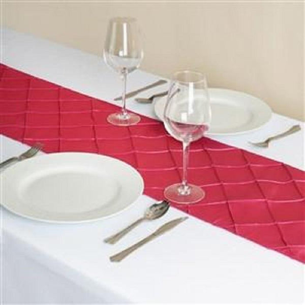 Fuchsia Pink Pintuck Table Runner